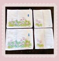VINTAGE Zucchi Italian Rare New Placemats And Napkins ~6 Linen Pieces TEA Towels