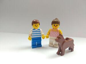 LEGO Minifigures Classic Couple Bundle, Husband Wife, Boyfriend  Girlfriend, Dog