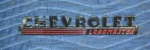 1947 1948 1949 CHEVROLET Truck New Old Stock LOADMASTER Hood Emblem