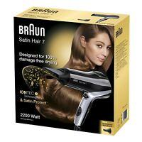 ✔ BRAUN HD 710 Satin Hair 7 inkl. Profidüse Haartrockner Profi Föhn Schwarz ✔