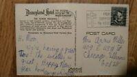 Vintage Postcard Official Disneyland Hotel Dec 31,1967 Lincoln Stamp 4 Cent Rare