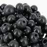 *500* BLACK  Wooden 10mm round Craft Children's Wood Beads  W97