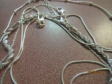 NEW LOT OF 6 ASSORTED Silvertone CHAIN NECKLACES TO MIX AND MATCH