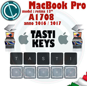 "KEY TASTO CLIP APPLE MACBOOK PRO 13"" A1708 KEYBOARD TASTIERA TASTI KEYCAPS"