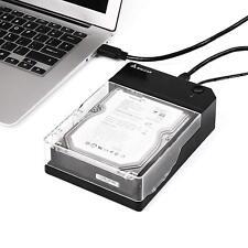 Salcar USB 3.0Externe Festplatte Gehäuse für 2,5 & 3,5 Zoll SATA SSD und HDD