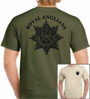 Royal Anglian Regiment T-Shirt R British Army Military TEE TOP Cap Badge Beret
