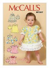McCalls SEWING PATTERN M7307 To Make Infants Dresses & Panties NB-XL