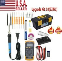 Electric Soldering Iron Gun Tool Kit 110V Welding Desoldering Pump Tool Set USA