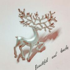 Cute deer brooch collar pin silver colour