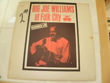 Big Joe Williams at Folk City 1963 Lp Record Mono Silver/Blue Rudy Van Gelder