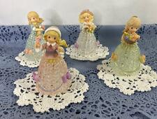 Precious Moments Figurine Belles With Spun Glass Dresses - 2001