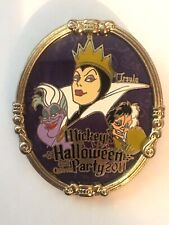 Mickeys Halloween Party Villains Ursula Evil Queen Cruella Pin Annual Pass Le