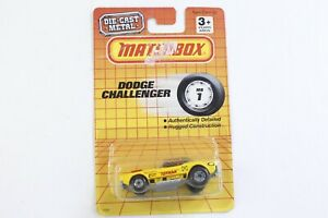 Matchbox Yellow Toyman Dodge Challenger #1 China On Card