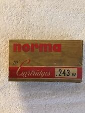 Vintage Norma 243 Empty Cartridge Box Sweden