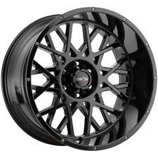 4 Vision 412 Rocker 20x9 6x55 10mm Gloss Black Wheels Rims 20 Inch Fits More Than One Vehicle