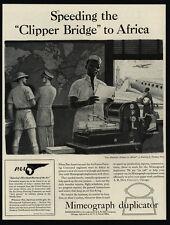 1942 MIMEOGRAPH Duplicator - WWII - NORMAN PRICE Art - Clipper Bridge VINTAGE AD