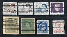 CANADA Precancelled Stamps and Cut Squares Assorted Lot of 8