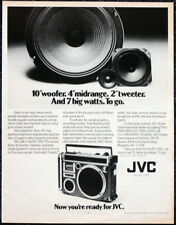 JVC HI-FI EQUIPMENT 1979 ADVERT POSTER PAGE