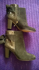 Kate Spade 100% genuine suede glitter ankle boots black uk 7.5 sold out rrp $295