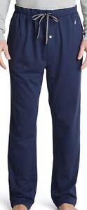 NWT Nautica Men's Soft Knit Sleep Lounge-Pant Navy Size S