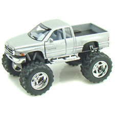 Kinsmart Dodge Ram Pickup Truck Off Road Big Foot Diecast 1:44 KT5338D Silver