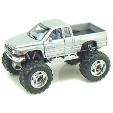 Kinsmart Dodge Ram Pickup Truck Off Road Big Foot Diecast 1:44 KT5338D Silver
