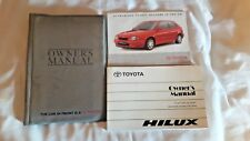 TOYOTA HILUX OWNERS HANDBOOK / MANUAL AND WALLET 1997-2005 SIXTH GENERATION