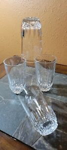 "Princess House HERITAGE 10 Oz Flat Tumblers Glasses 5"" Set of 4"