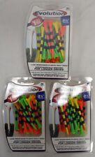 """Pride Tee Evolution Golf Tees - 3 1/4"""" -  Fruit/Black - 3 Packs of 30 (11810)"""