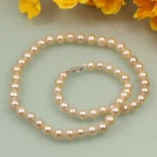 New  7-8mm  White Black Pink Cultured Fresh Water fashion Pearl Necklace 18""