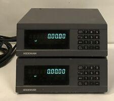 Lot Of 2 Heidenhain Nd281b Measured Value Display 344996 01