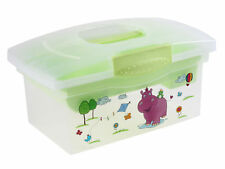 Voyageur Hippopotame vert Coffre à jouets Boîte voyage pour bébé ou Enfants