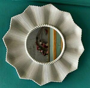 New Vintage style Art Deco petal mirror in grey