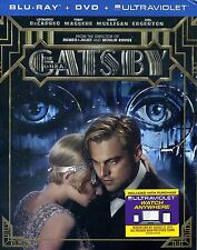 The Great Gatsby - Leonardo Dicaprio (Blu-ray 3D + Blu-ray + DVD, 2013) NEW!!!