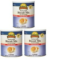 NEW Augason Farms Emergency Disaster Survival Food Buttermilk Biscuit Mix 3 Pack