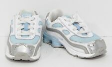 Nike Shox White Blue Leather Athletic Training Sneakers Shoes 366892 Toddler  7c 4f25ef302