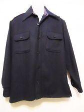 C.P.O. by Arrow Vintage 50's/60's Mens Jacket/Heavy Shirt M-15-15 1/2 Navy Retro