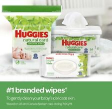 Huggies Natural Care Sensitive Baby Wipe Refill Fragrance Free 1,088 ct