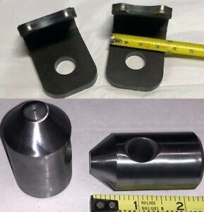 """John Deere Quick Attach Bracket 1/2"""" 200 300 400 500 Loader Bucket Hooks Pins"""