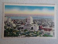 Vintage Postcard Montreal from Mount Royal Montreal Postcard