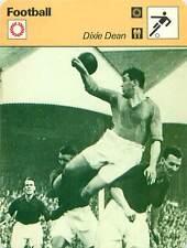 FICHE CARD:Dixie Dean ENGLAND Centre forward John Hapgood Roberts FOOTBALL1970s