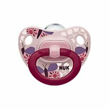NUK Baby Pacifier Happy Days Orthodontic 18-36 Months Butterfly Girl Silicone...