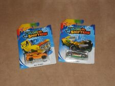 Lot of 2 Hot Wheels Color Shifters color changing cars: Barbaric, Baja Breaker