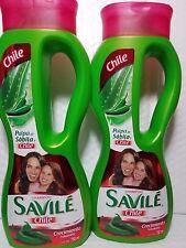 2 SHAMPOO SAVILE CONTROL CAIDA PULPA DE SABILA Y CHILE 2 PACK OF 750 ML UNISEX