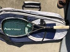 Harrow Squash Racquet Jonathan Powers and Bag