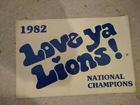 Penn State Nittany Lions, National Champions Poster,1982 Blue on White