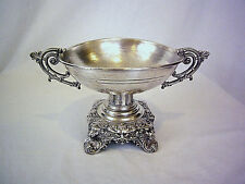 Antique French Silver Centerpiece Footed Tazza with lions.