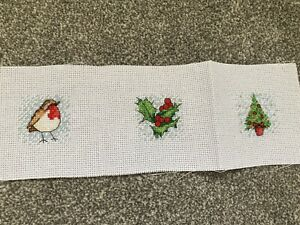 completed cross stitch christmas Designs