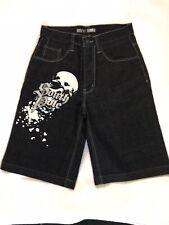 South Pole Black Shorts Huge Skull Size 12