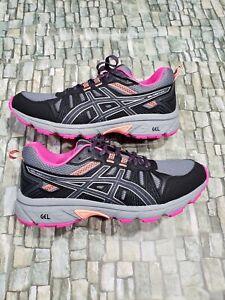 ASICS Womens Gel-Venture 7 Carrier Grey/Silver trail running sneaker Sz 11